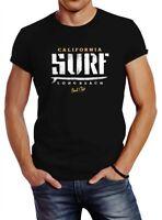 Herren T-Shirt Surf Westcoast California Neverless®