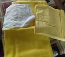 4 piece mouse basket cot bed set 2 fleece blanket 1 fitted 1 flat sheet Yellow