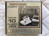 Vintage Computermate CM-103 5 1/4 Inch Floppy Disk Organizer Black Holds 10 B2