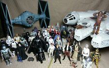 Kenner Hasbro Star Wars Lot Millennium Falcon X-wing Tie Fighter 36 figures
