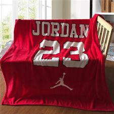 "Air Michael Jordan AJ #23 Logo Flannel Blanket Bedding Cover Throw 55""-59"""