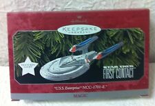 HALLMARK STAR TREK U.S S ENTERPRISE NCC-1701-E FIRST CONTACT ORNAMENT BRNAD NEW