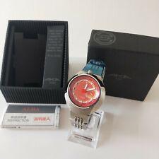 mint / SEIKO ALBA AKA V707 0A10 red quartz analog watch with box