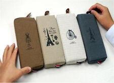 C035 romantic Paris pencil bags pen bag, pocket, Cosmetic bag pencil case