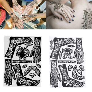 Body Tatouage Bricolage Henné Pochoirs Vignette Temporaire Modèle Art Corporel