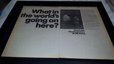 CBS News 1968 Worldwatchers Rare Original Promo Poster Ad Framed!