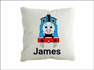 Thomas the tank Engine  Personalised  cushion pillow with any name Cover only