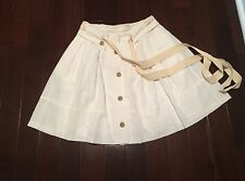 Anthropologie Vichyssoise Skirt by Sine WHITE size 10