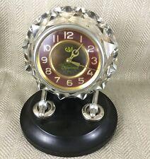 Vintage Reloj De Escritorio Art Deco ruso Vidrio Cristal URSS Soviética Retro