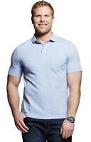 Mens Merona Lunar Light Blue Polo Shirt Size Large Tall L LT 2XLT 3XLT