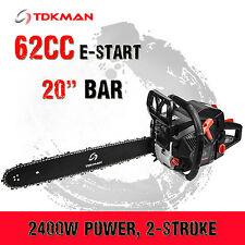 """TDKMAN 62CC Petrol Chainsaw Chain Saw 20"""" Inch Bar Tree Log Pruning Pruner"""