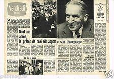 Coupure de presse Clipping 1977 (2 pages) Maurice Grimaud préfet de Mai 68