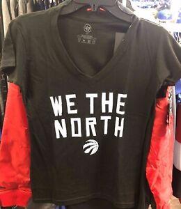 Women's Toronto Raptors We The North Black NBA Basketball 100% V Neck T Shirt