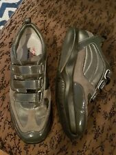 MBT Women grey nava Leather GORE-TEX Physiological TONING Shoe 39 8.5 $150