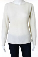 Club Monaco Ivory Gray Color Blocked Cashmere Knit Crew Neck Sweater Size Medium