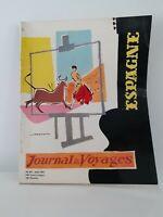 JOURNAL DES VOYAGES N°207 AOUT 1958 REVUE INTERNATIONALE DE TOURISME