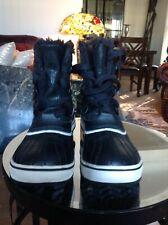 Sorel black  fur boots size 5.5