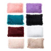 Luxury Long Soft Fur Fluffy Sofa Car Pillow Case Plush Cushion Cover Home Decor