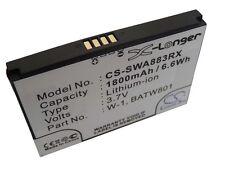 Batterie 1800mAh pour SIERRA WIRELESS 1201883, BATW801, W-1