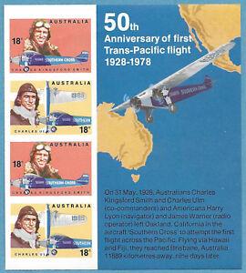 Australian 1978 Aviators Mini Sheet Stamp MNH BAB178