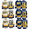 Hanson Brothers #16#17#18 Charlestown Chiefs Slap Shot Hockey Jersey Stitched