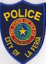 City of La Feria Police Patch Texas TX NEW