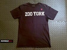Zoo York Institute T Shirt Black White Red LARGE Hip Hop Skateboard Icon Classic
