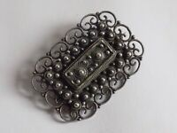 Absolutely Stunning Sterling Silver Victorian Style Brooch. Beautiful Detail !!!
