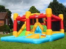 BeBop Fortress Large Inflatable Bouncy Castle Combo With Water Slide For Kids