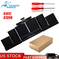 """New listing A1417 Battery for Apple MacBook Pro 15"""" Retina A1398 Mid 2012 Early 2013 8700mAh"""