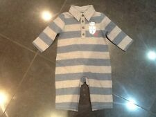 Juicy Couture New & Gen. Boys Blue Striped Cotton Baby Grow 0/3 MTHS With Logo