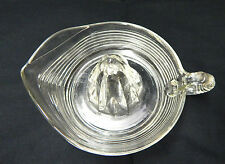 Vintage Clear Depression Glass Reamer Juicer Horizontal Rib