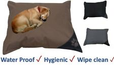 Waterproof LARGE DOG BED Hygienic Soft Extra Durable Non Slip Base  89  x 64 cm