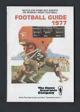 FOOTBALL GUIDE 1977 insurance promotional giveaway