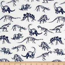 Stellasaurus - Jurassic DINOSAUR Skeletons Fabric Fat Quarter Cotton Quilting