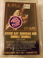 Live Alive by Stevie Ray Vaughan and Double Trouble (2 LPs) NEW SEALED CASSETTE