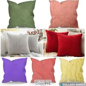 """Plain Cushion Covers Large 22"""" 24"""" 26"""" 28""""  Heavy Durable Fabric With Zipper"""