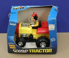 Illco Disney's Mickey Mouse Gyro Powered Tractor un-played with boxed 80s