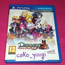 DISGAEA 3 ABSENCE OF DETENTION PS VITA SONY VERSION FRANCAISE PLAYSTATION VITA