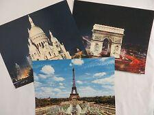 Vintage Photos PARIS MEXICHROME Editions Chantal Eiffel Tower Arc De Triomphe