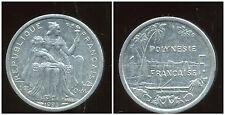 POLYNESIE francaise 1 franc 1993  ( bis )