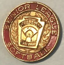 VTG Senior Little League District Softball Lapel Pin Tac Official Baseball RED