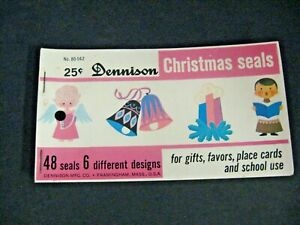 Lot of vintage 50s 60s Dennison Christmas seals booklet new old stock unused