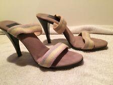 Vintage 70's Slip On Kinney Sz 7 Shoes Stiletto 3 Inch Lavender Heels Disco Pump