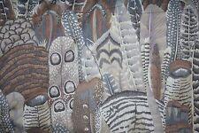 Fat Quarter Kaffe Fassett Feathers - Grey/Brown - Cotton Quilting Fabrics