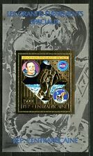 Centre Afrique 1980 APOLLO 11 Moon Space NASA Armstrong Gold Or Michel Bloc 78