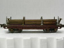 LIONEL PREWAR O-GAUGE FLAT CAR w Wood Load