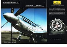 PUBLICITE ADVERTISING 114  2008  BREITLING   montre CHRONO-MATIC 49 ( 2p)