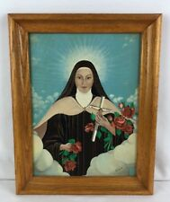 Mother Mary Sorrow Crucifix Original Acrylic Signed Painting Mother Of Jesus