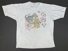 Vintage 90s Cats T-Shirt Size Adult XL Gray Kittens